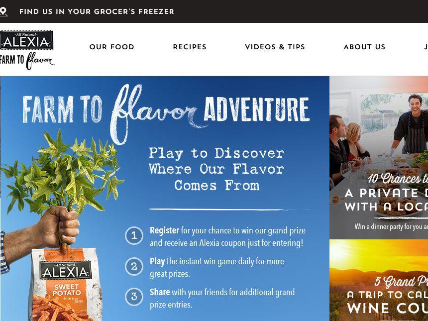 The Alexia Farm to Flavor Adventure Sweepstakes