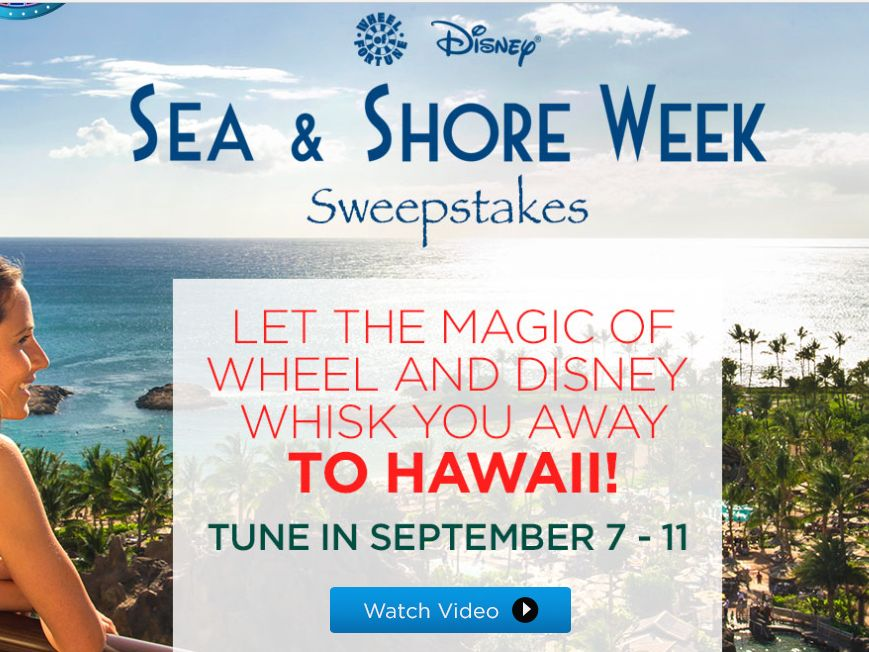 The Wheel of Fortune Disney Sea & Shore Sweepstakes