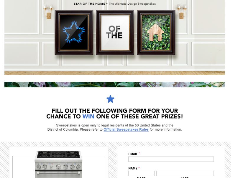 The Thermador Star of the Home Sweepstakes