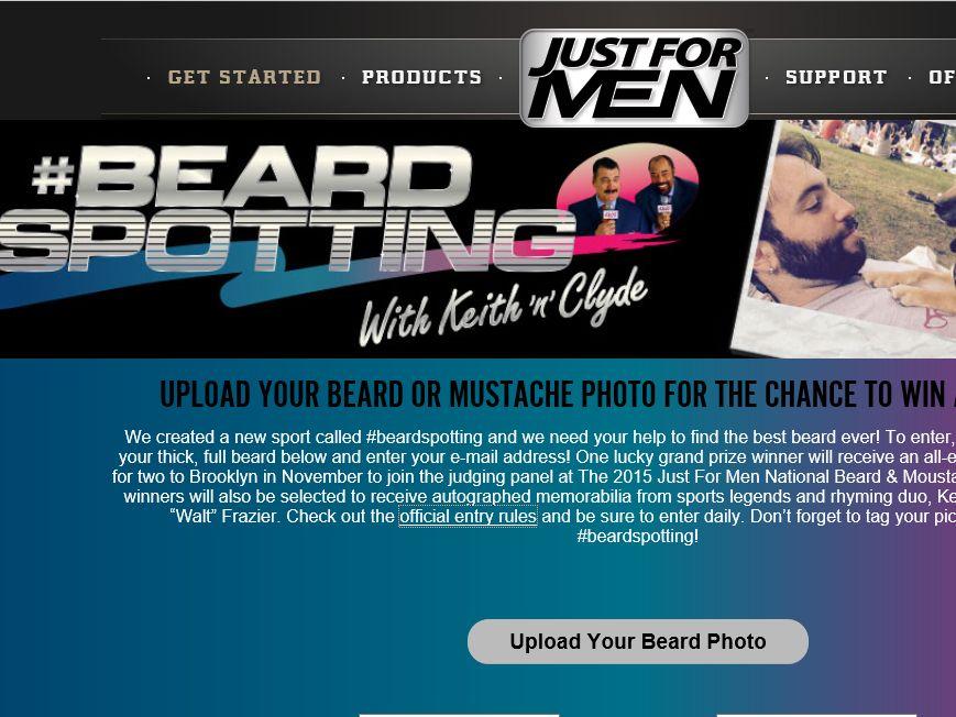 Just for Men #Beardspotting Sweepstakes