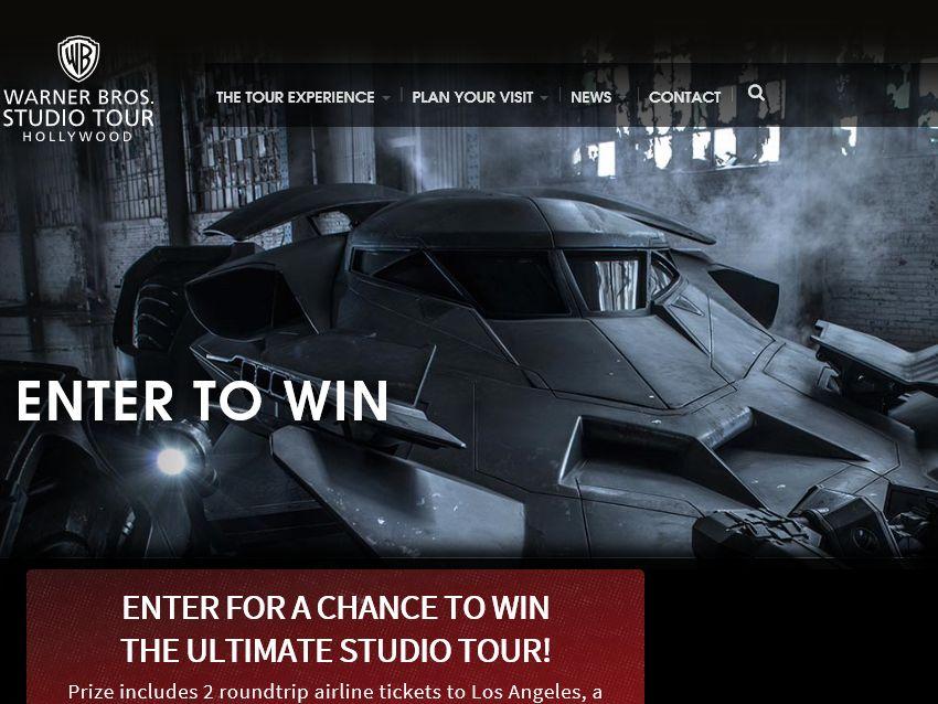 The Warner Bros. Studio Tour Hollywood Presents: Ticket to Tour Sweepstakes