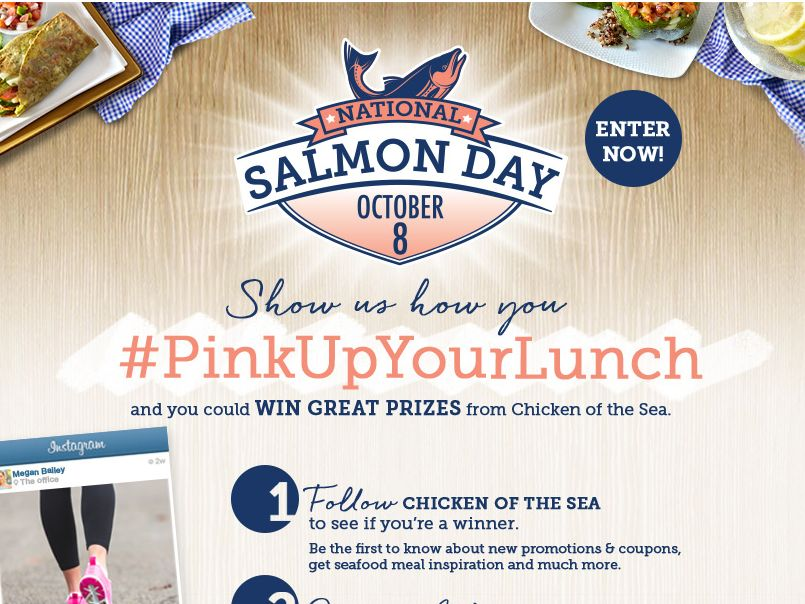 """Chicken of the Sea International """"Pink Up Your Lunch!"""" Sweepstakes"""