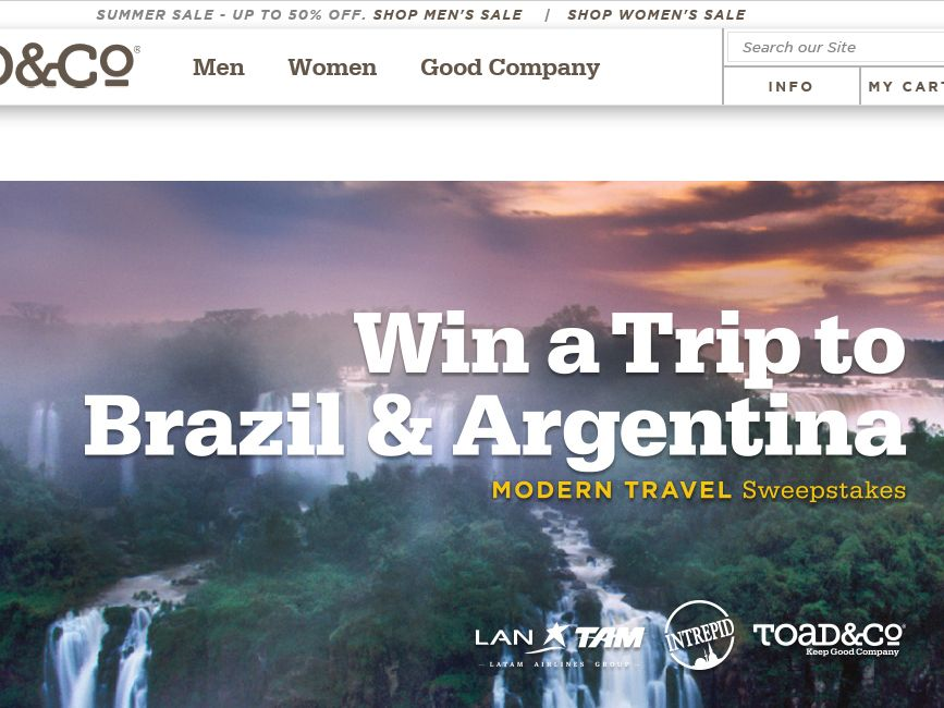 The Toad&Co Modern Travel Sweepstakes