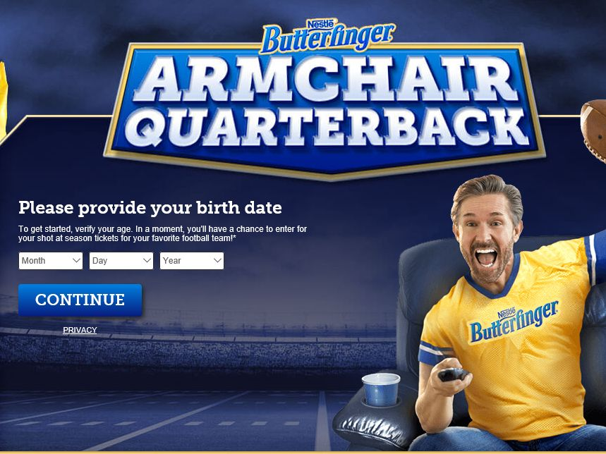 BUTTERFINGER Armchair Quarterback Sweepstakes