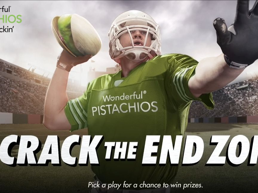 The Wonderful Pistachios Crack the End Zone Sweepstakes