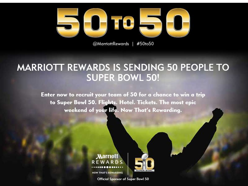 The Marriott Rewards 50 to 50 Sweepstakes