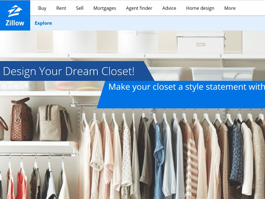 """Zillow Digs and the Container Store """"Design Your Dream Closet"""" Sweepstakes"""