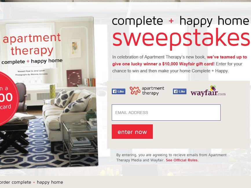 Apartment Therapy Complete + Happy Home Sweepstakes