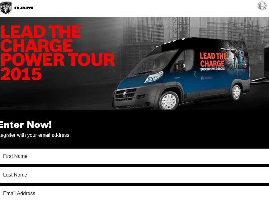 Bosch Lead the Charge Power Tour Sweepstakes