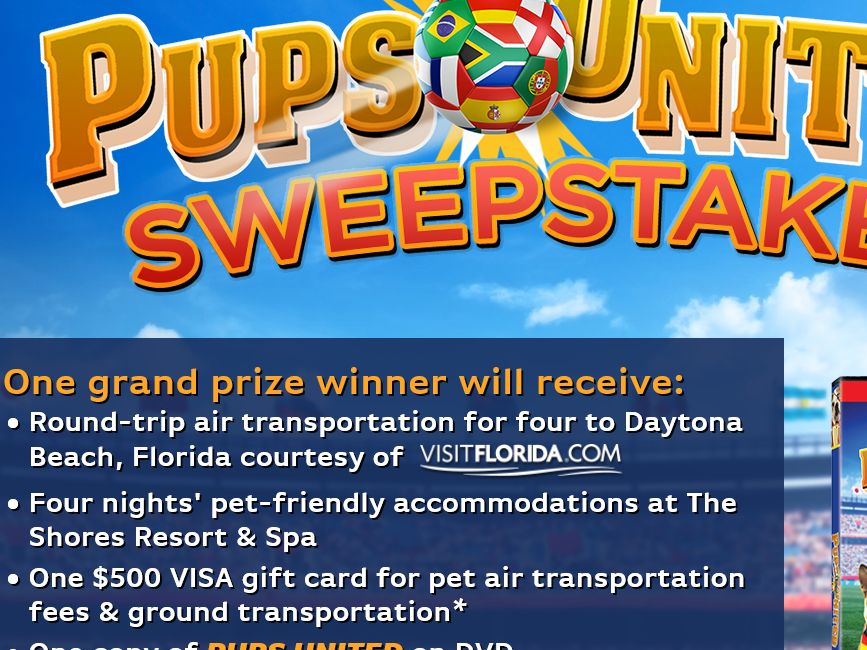 EMG's Pups United DVD Sweepstakes