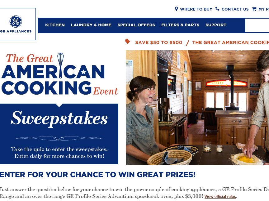 The Great American Cooking Event Sweepstakes