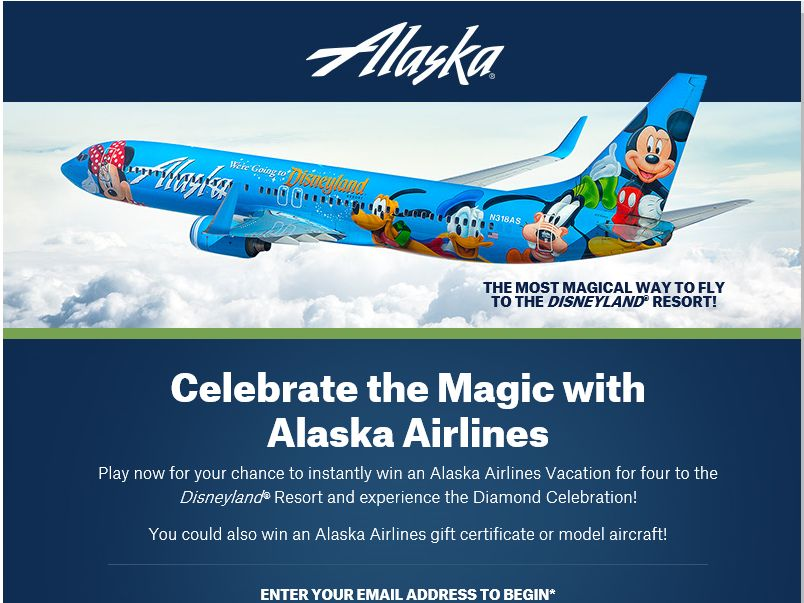Celebrate the Magic with Alaska Airlines Sweepstakes