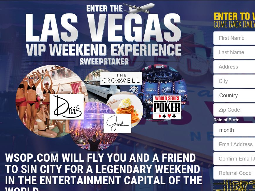 WSOP.com Las Vegas Drawing Sweepstakes