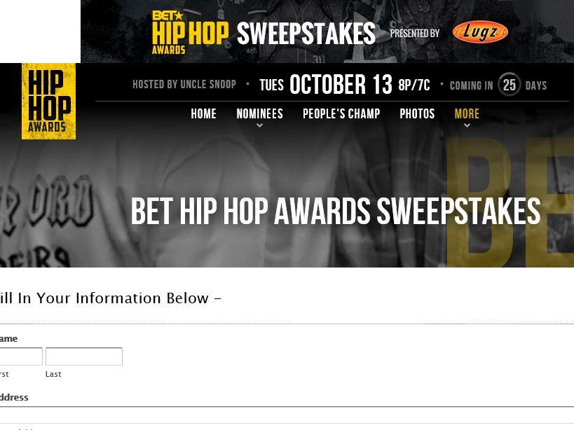 BET Big Hip Hop Awards Sweepstakes