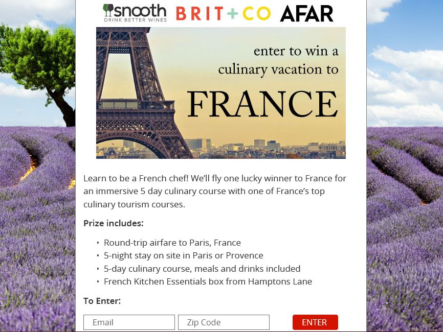 Hamptons Lane French Culinary Sweepstakes