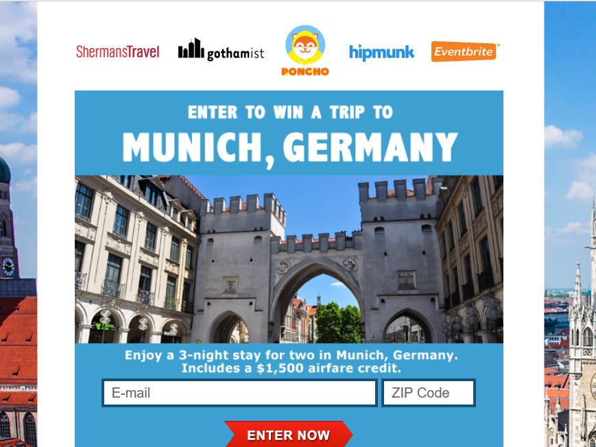 Shermans Travel Trip to Munich, Germany Sweepstakes
