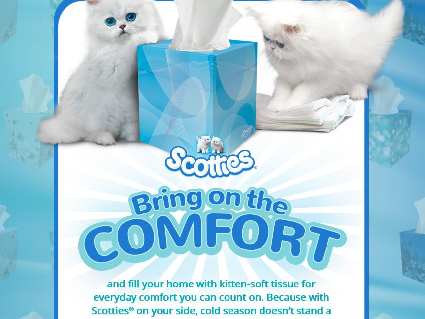 "Scotties ""Bring on the Comfort"" Sweepstakes"