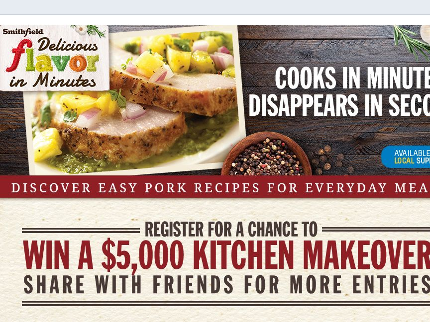 The Smithfield Delicious In Minutes Sweepstakes