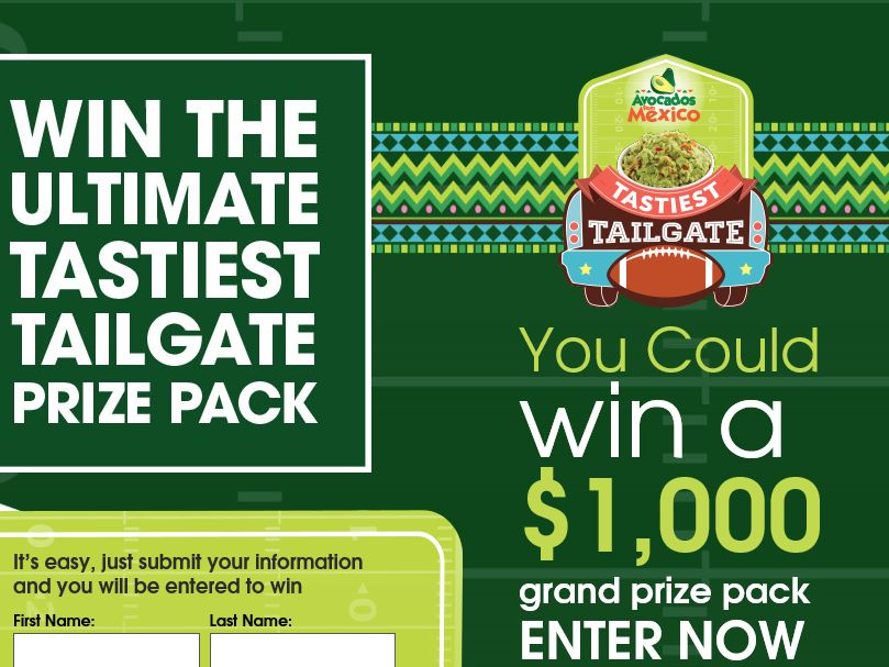 Avocados FromMexico Tastiest Tailgate Sweepstakes