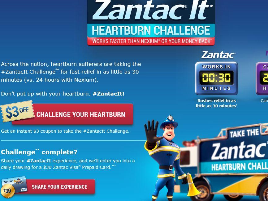 """The """"Zantac It Heartburn Challenge"""" Sweepstakes"""