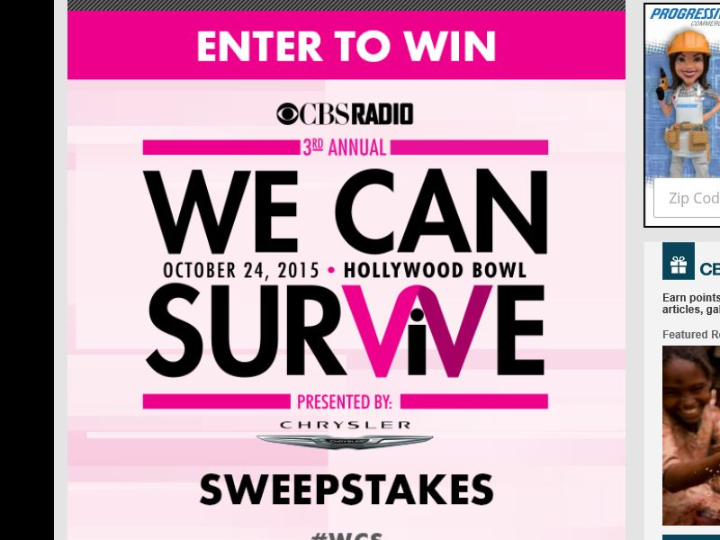 The Radio.com We Can Survive Sweepstakes