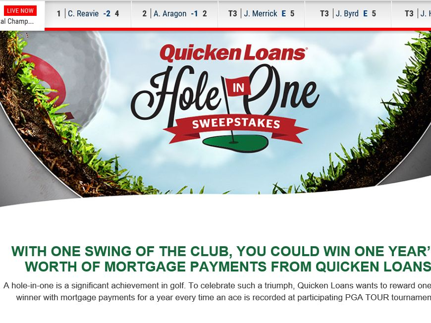 The Quicken Loans Hole-In-One 2015 Sweepstakes