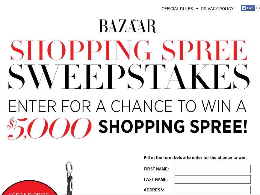 Harper's BAZAAR Shopping Spree Sweepstakes