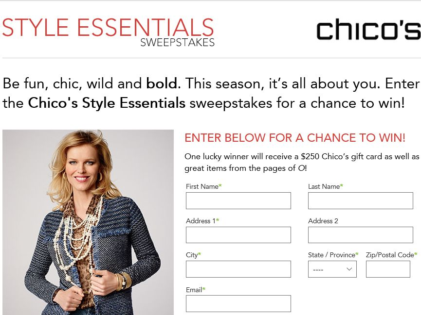 Chico's Style Essentials Sweepstakes