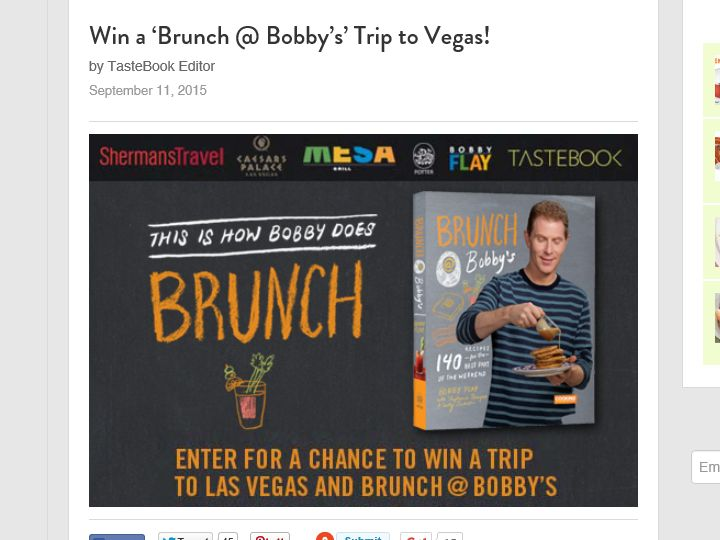 Brunch @ Bobby's Sweepstakes