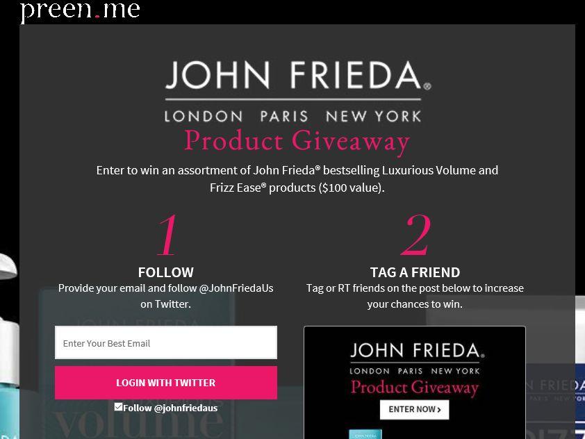 The John Frieda Giveaway