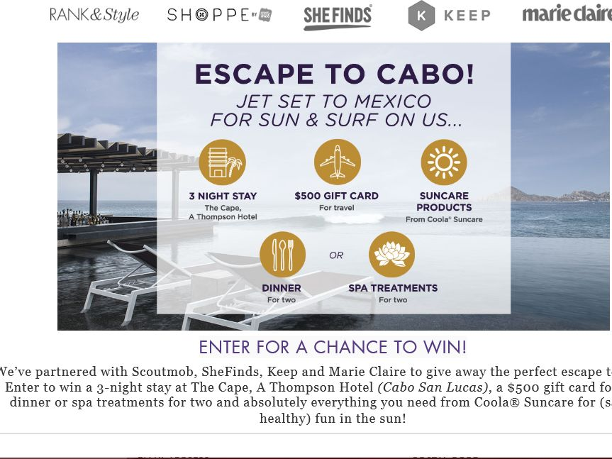 The Rank and Style Escape to Cabo Giveaway