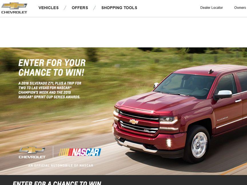 Win the Chevrolet Silverado Z71 Sweepstakes