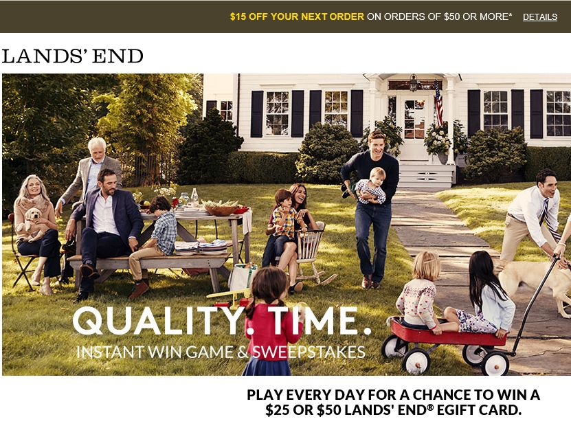 Lands' End Quality Time Sweepstakes