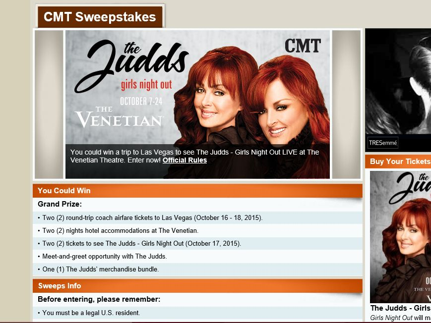 The Judds – Girls Night Out Flyaway Sweepstakes