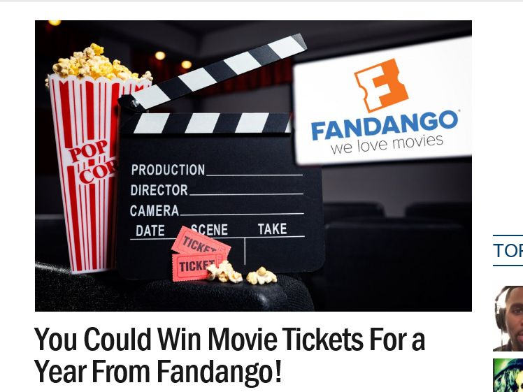 Ryan Seacrest's Fandango Movies For A Year Sweepstakes