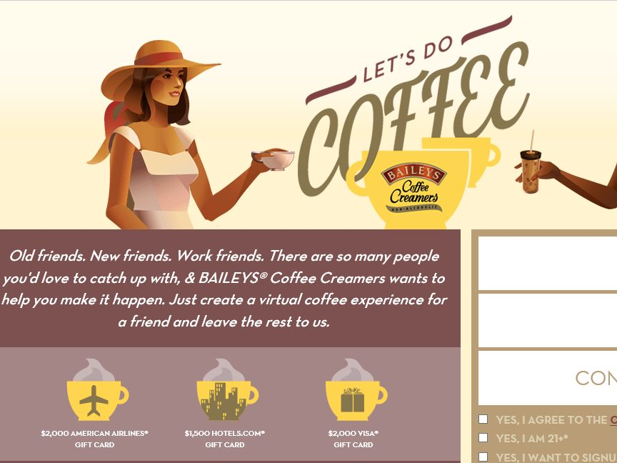 The BAILEYS Coffee Creamers' Let's Do Coffee Sweepstakes