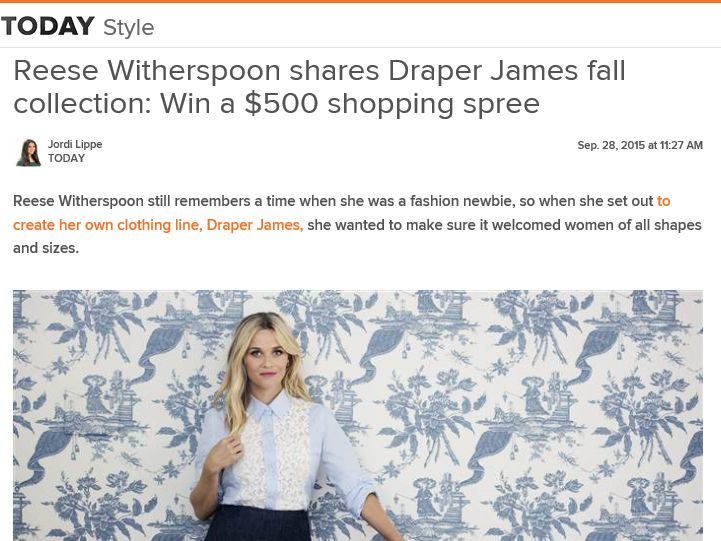 The Draper James Giveaway Sweepstakes