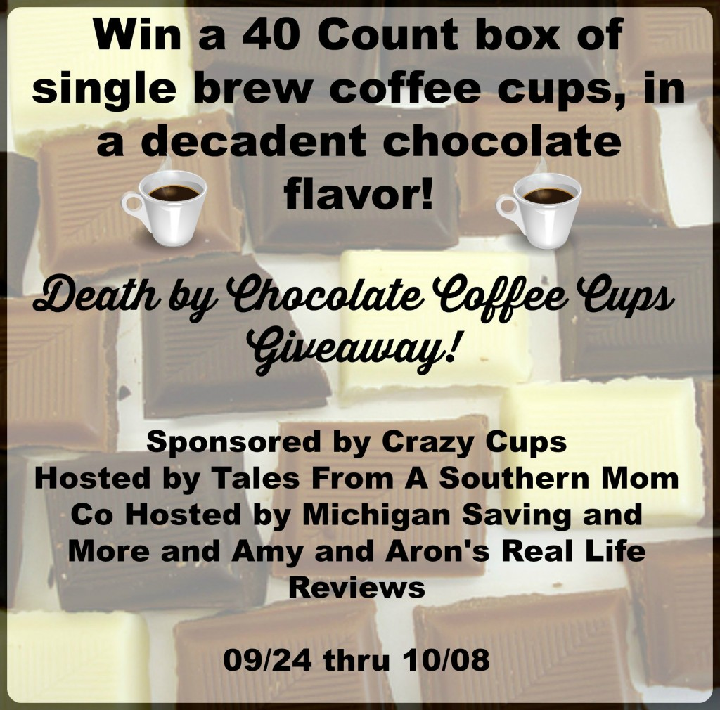Death by Chocolate Coffee Cups Giveaway