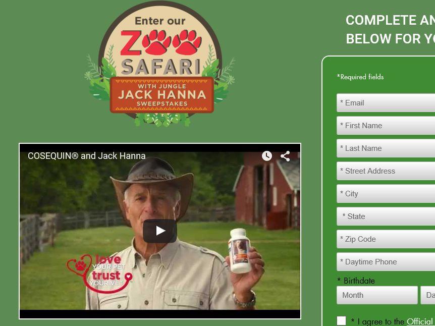 The Zoo Safari with Jungle Jack Hanna Sweepstakes