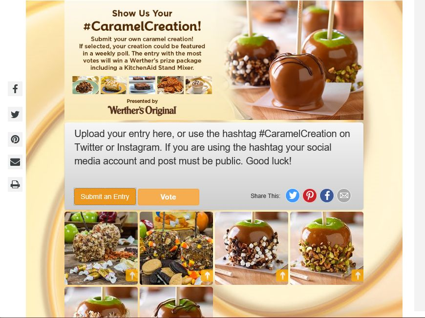 Hallmark Channel's Caramel Creation Contest