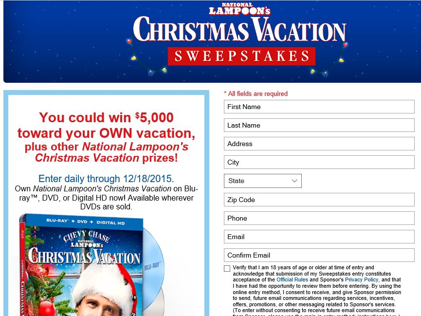 """The Montgomery Ward """"Christmas Vacation' Sweepstakes"""