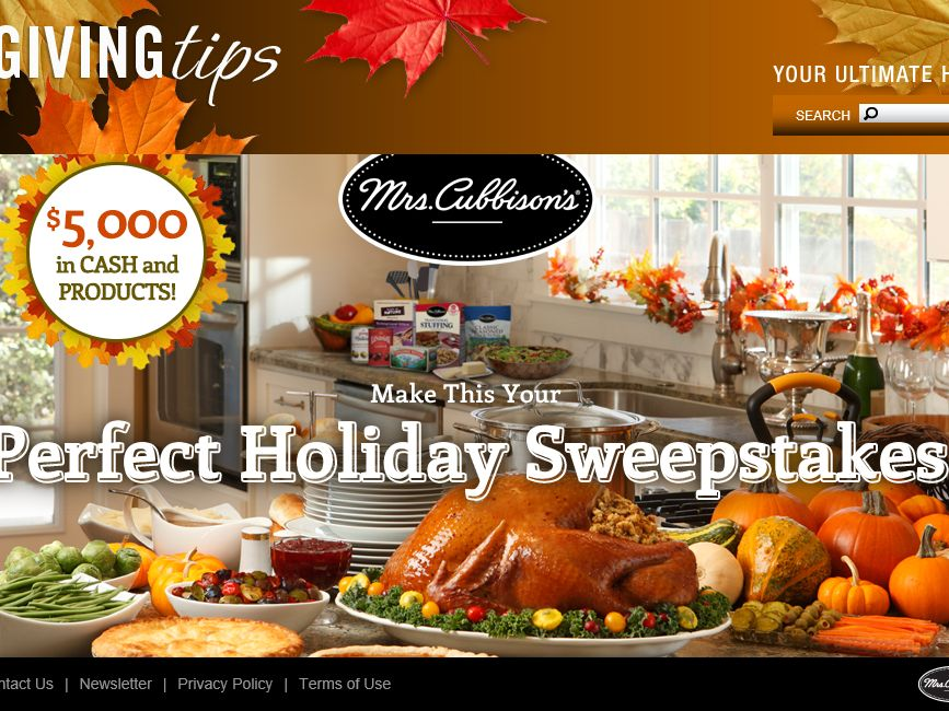 The Mrs. Cubbison's Stuffing, Croutons and Salad Toppings $5,000 Holiday Sweepstakes