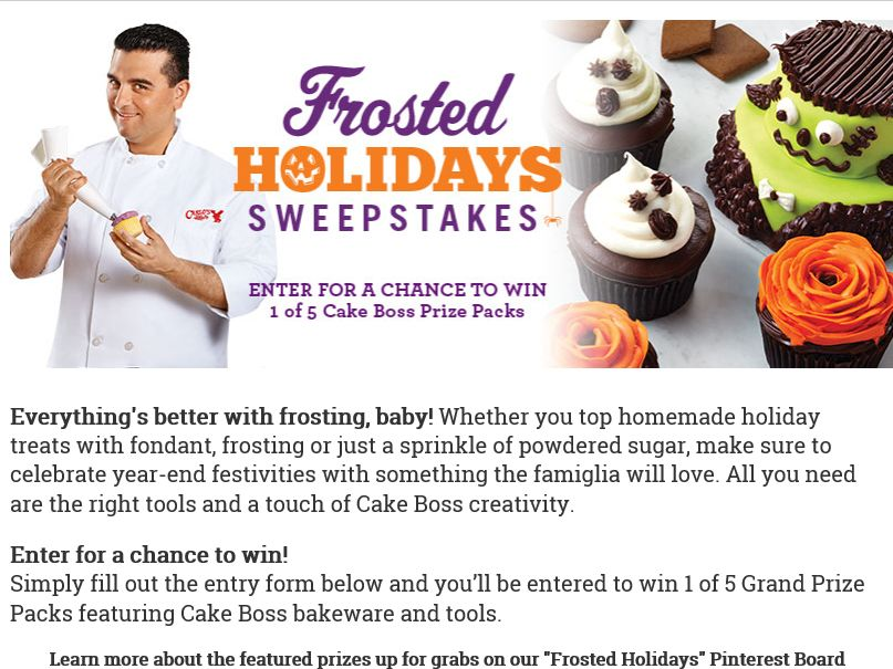 Cake Boss Baking 2015 Frosted Holidays Sweepstakes
