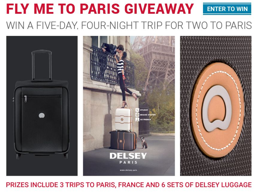 The DELSEY Fly Me to Paris Promotion