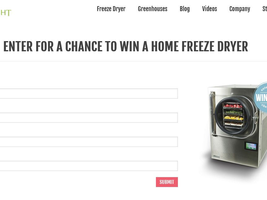 The HarvestRight Win an In-Home Freeze Dryer! Contest