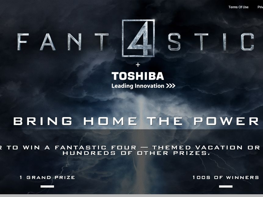 The Toshiba + Fantastic Four Sweepstakes