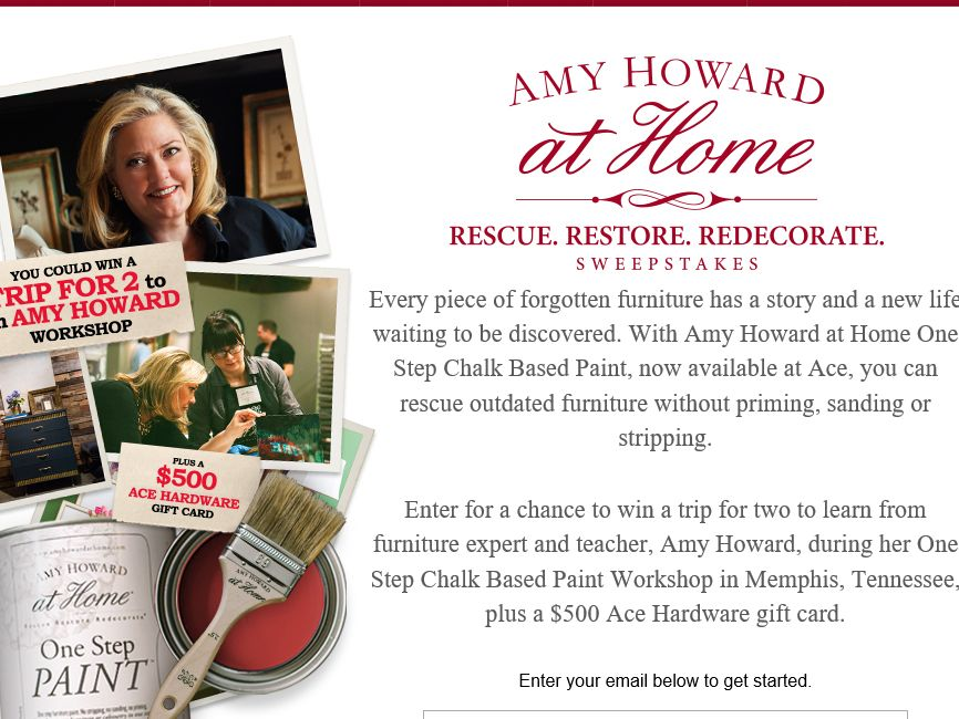 Ace Hardware Rescue. Restore. Redecorate. Amy Howard at Home Sweepstakes