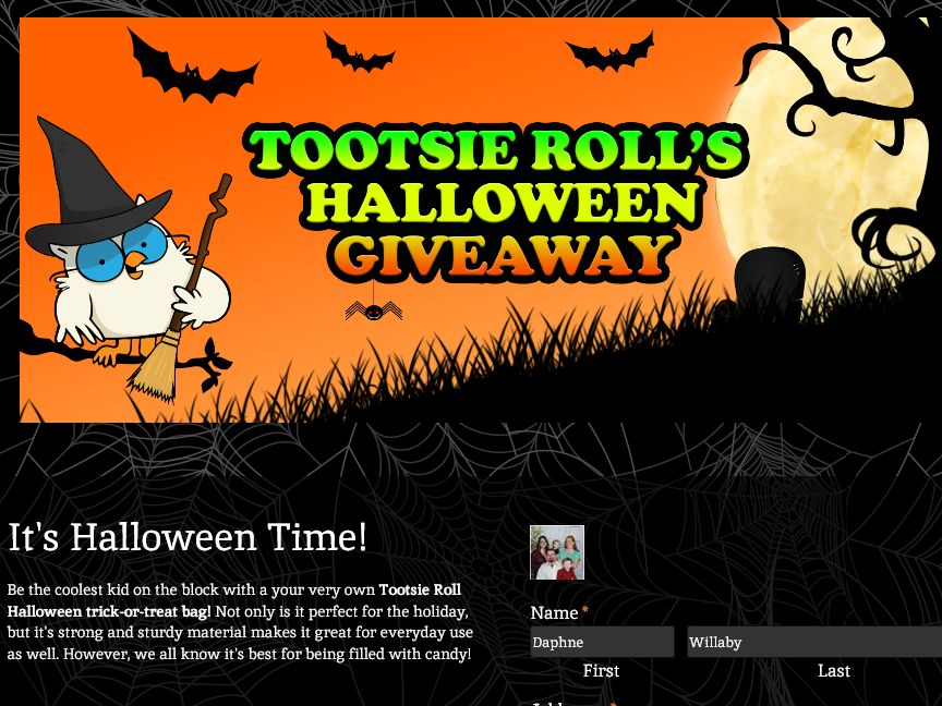 Tootsie Roll Industries Social Media Giveaway Sweepstakes