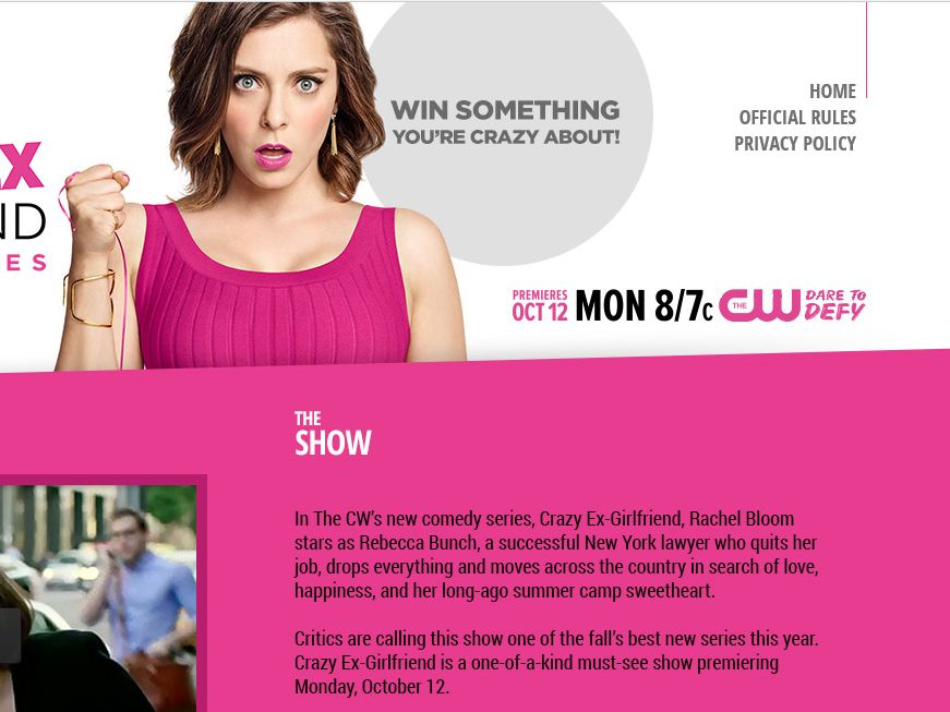 The CW Crazy Ex-Girlfriend Sweepstakes