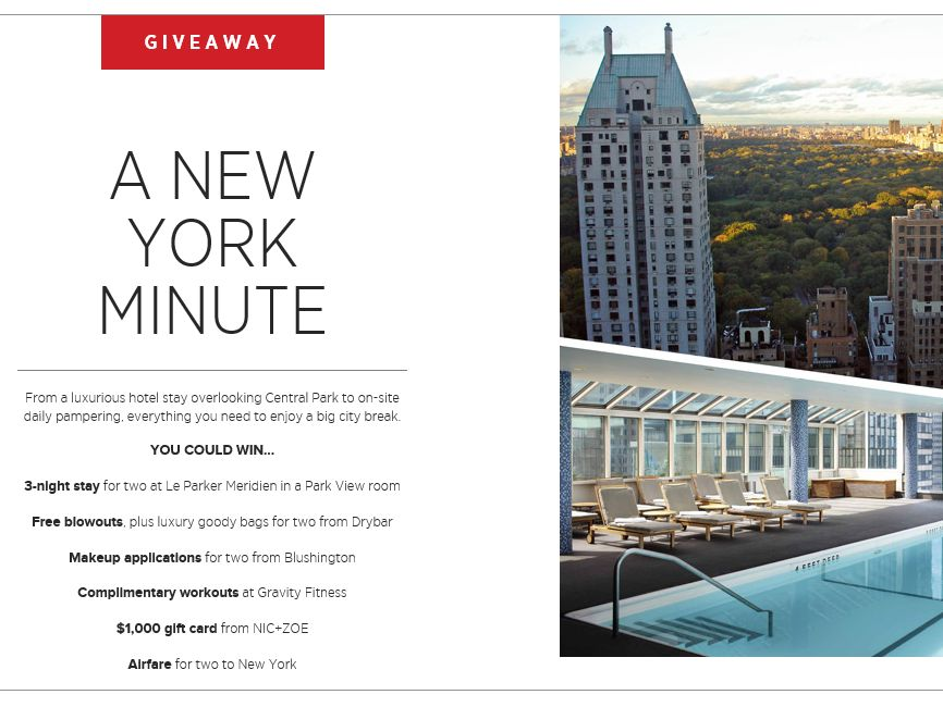 Bazaar.com Big City Break Sweepstakes